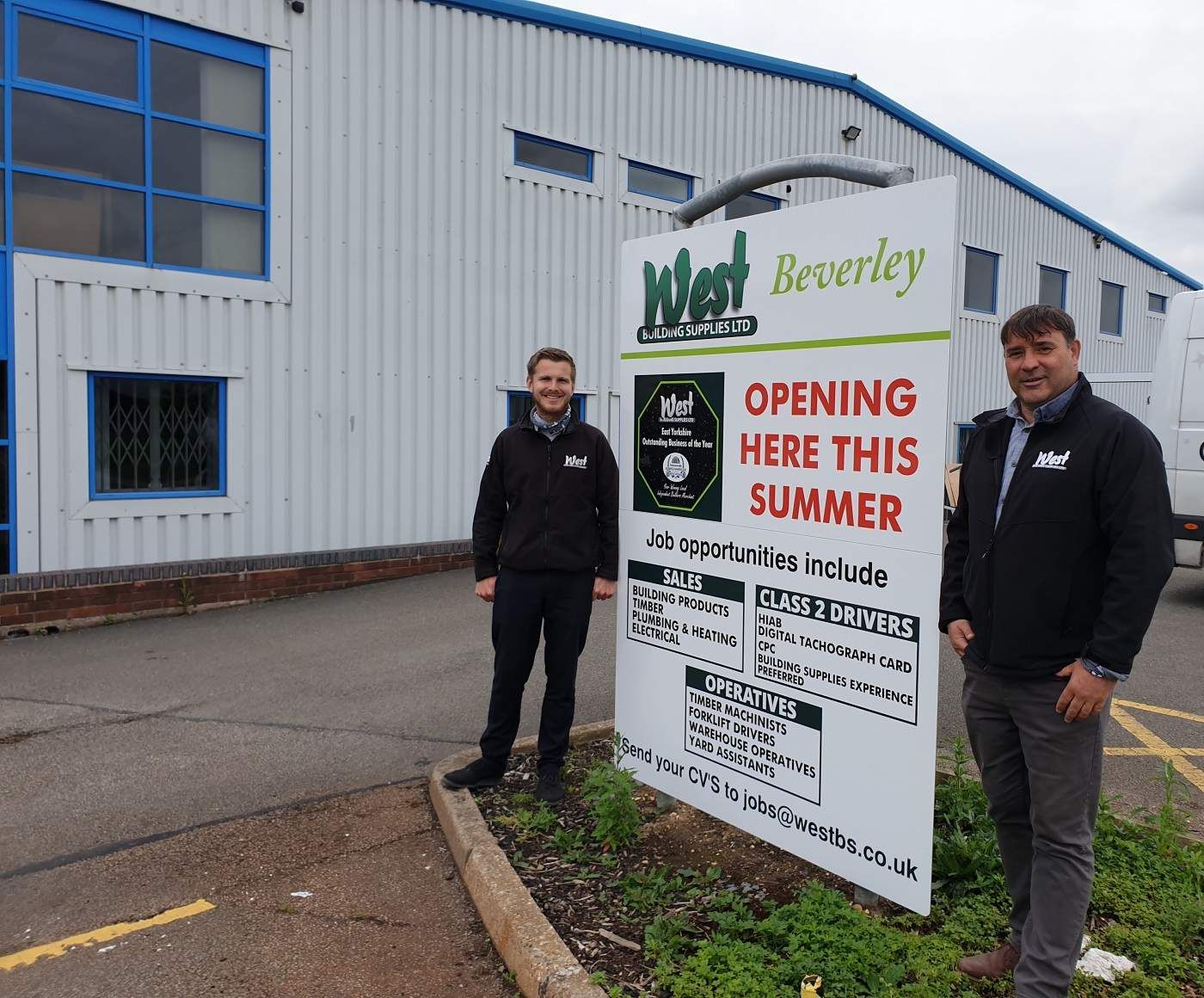 Ten new jobs created as West Building Supplies expands into Beverley
